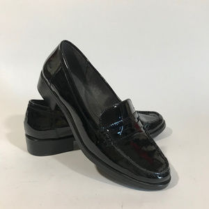 Aerosoles Black Patent Leather Loafers